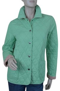 Vineyard Vines Quilted Barn Turtles Print Green Jacket