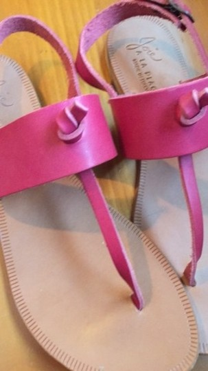 Joie Leather Flats Pink Sandals