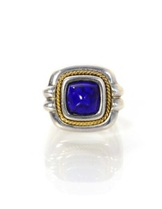 Tiffany & Co. Tiffany & Co. Sterling and Lapis Ring Sz 6.75