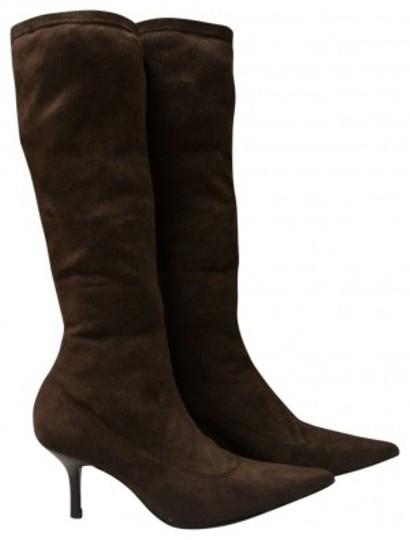 Preload https://item5.tradesy.com/images/pazzo-brown-suede-like-stretch-bootsbooties-size-us-65-regular-m-b-19924-0-0.jpg?width=440&height=440