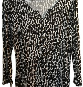 Ann Taylor Top Black White