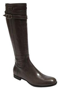 Attilio Giusti Leombruni Leather Knee High Equestrian Gray Boots