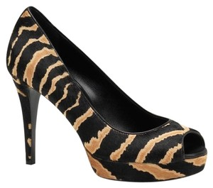 Gucci Betty Open-toe Calf Hair Multi-Color Pumps