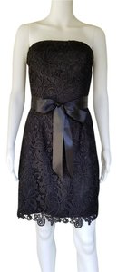 Bill Levkoff Lace Strapless Dress