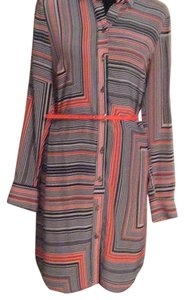 Trina Turk short dress Black and orange on Tradesy