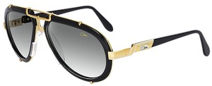 Cazal CAZAL 642 Sunglasses Aviator Legend Black Gold AUTHENTIC New