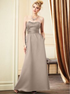 Alfred Angelo Rum Pink Satin 7267l Formal Bridesmaid/Mob Dress Size 4 (S)