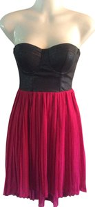 Material Girl Bustier Underwire Accordian Skirt Dress