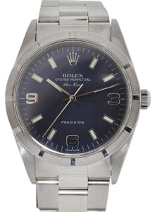 Rolex Rolex 14000 Air King Stainless Steel Blue Dial Watch