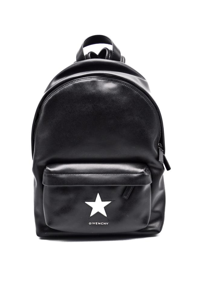a7c16b4b25b2 Givenchy Small Buttery White Star Black Leather Backpack - Tradesy