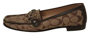 Coach Designer Buckle Loafers Brown Flats