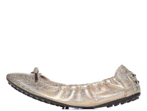 Tod's Gold-Tone Flats