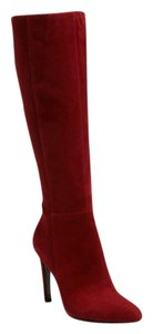 Via Spiga Knee High Red Cranberry Boots
