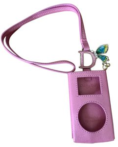 Dior PINK CHRISTIAN DIOR LEATHER MINI IPOD POUCH