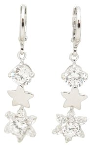 Other Galaxy Bling Sparkle Star Drop Rhodium Silver Earrings