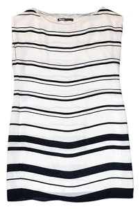 Zara short dress Off white, navy blue on Tradesy