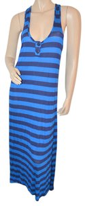 Blue Maxi Dress by Splendid Maxi Stripes Nautical Rayon