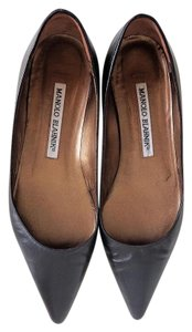 Manolo Blahnik Manolo Sexandthecity Ballet Leather Black Flats