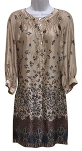 GERARD DAREL short dress Beige Silk on Tradesy