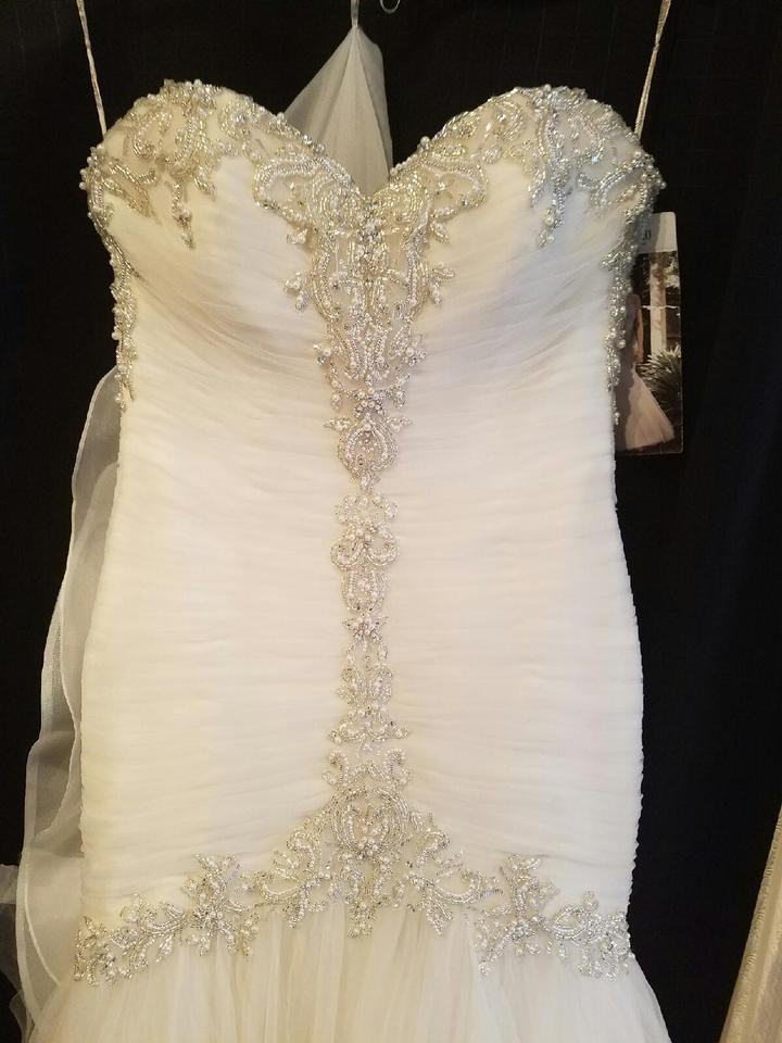 Maggie Sottero Ivory Over Champagne Tulle Cerise Formal Wedding ...