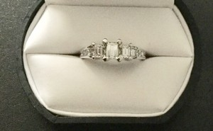 Jcp 14kt White Gold 1ct Emerald Engagement Ring
