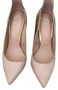 Zara Pink/metallic Pumps