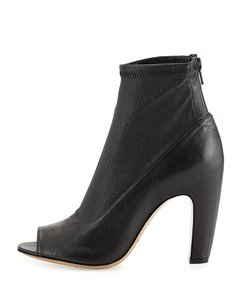 Maison Margiela Peep Toe Bootie Open Toe Boot Black Boots