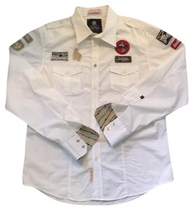 JACHS Button Down Shirt White