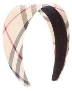 Burberry Beige, black, red Burberry Nova Check print wide headband