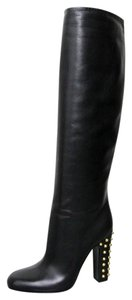 Gucci Jacquelyne Studded Tall Black Boots