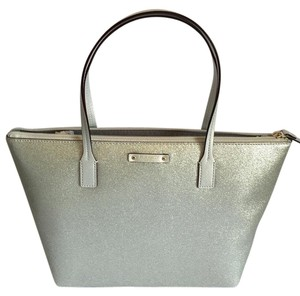 Kate Spade Black Small Tote in grey