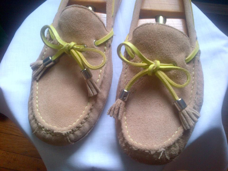 2a767753ebf Cole Haan Beige Suede Grant Ladies Driver Moccasin Flats Size US 7 Regular ( M