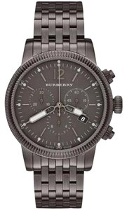 Burberry Nwt men's utilitarian watch gunmetal tone bracelet BU7840 $995