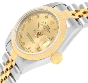 Rolex Rolex Datejust Steel 18k Yellow Gold Roman Dial Ladies Watch 79173