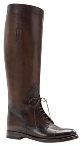 Gucci Boulanger Equestrian Lace-up Dark Brown Boots