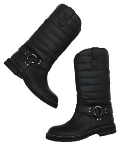 Chanel Riding Boot Quilted Black Boots
