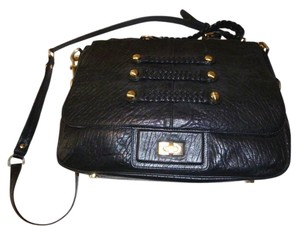 Alexis Hudson Leather Shoulder Satchel in Black