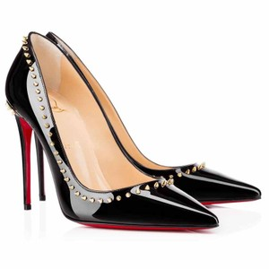 Christian Louboutin Hardware Studded Black, Gold Pumps