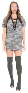 short dress green Camo on Tradesy