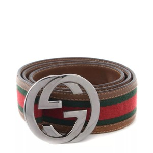 Gucci Gucci Leather GG Logo Brown Belt