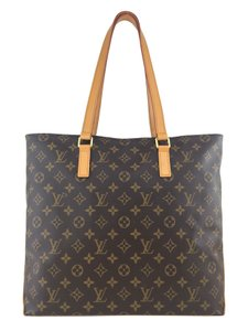 Louis Vuitton Gold Hardware Canvas Leather Tote in Brown