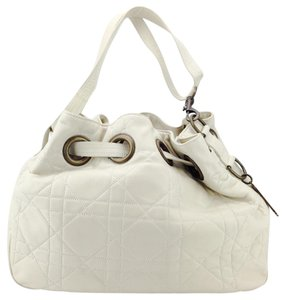 Dior Quilted Drawstring Bucket Shoulder Bag