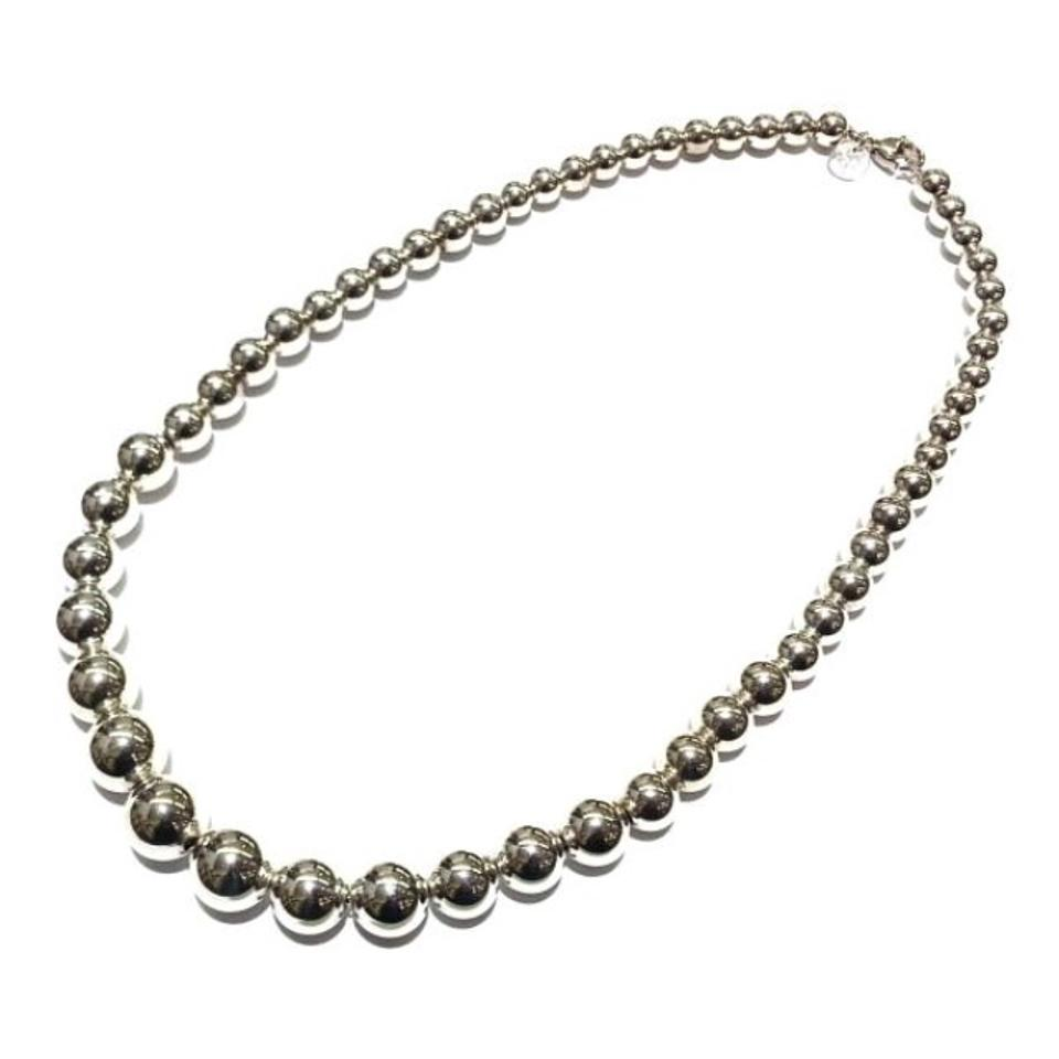 8bdce372e Tiffany & Co. BEAUTIFUL Tiffany&Co. Graduated Bead Necklace Sterling Silver  16 inches Image 0 ...