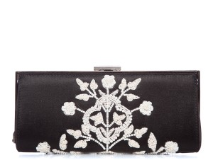 Badgley Mischka Black & White Clutch