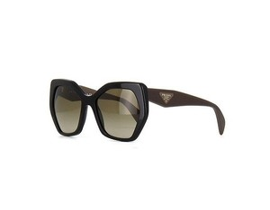 Prada NEW Sunglasses SPR 16R c. 1AB1X1 Black & Brown w/ Gradient lens
