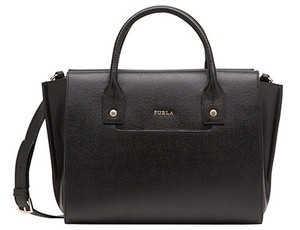 Furla Black Linda 820641 Leather Satchel