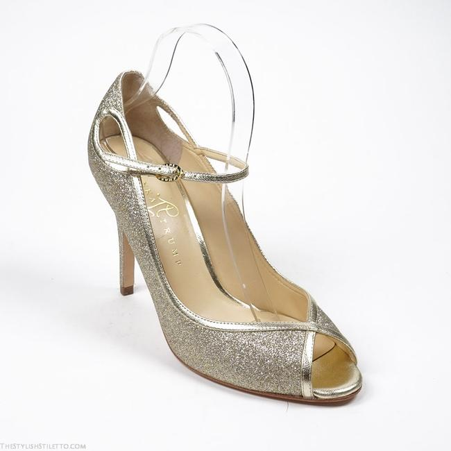 Item - Gold Natalya 2 Metallic Peep Toe Pumps Size US 7.5 Regular (M, B)