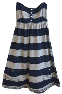 Abercrombie & Fitch short dress Navy Blue and Grey Striped on Tradesy