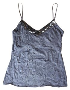 Arden B. Sequin Grey Top Blue