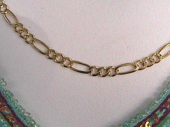 Milor Gold Washed Milor Sterling Siver Figaro Bracelet Necklace Set